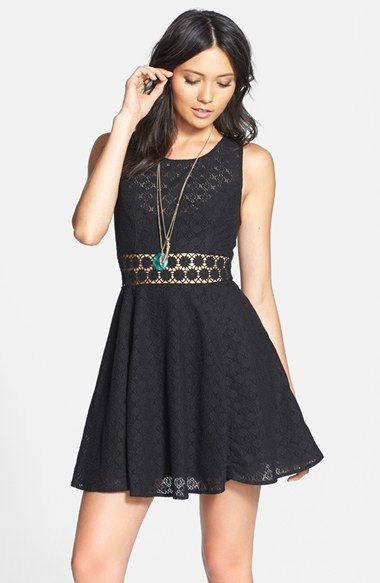 Free People lace fit & flare dress http://rstyle.me/n/kv3i9r9te ...