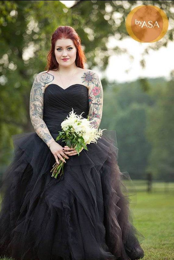 13 Black Wedding Dresses That Will Bring Out Your Inner Morticia Addams