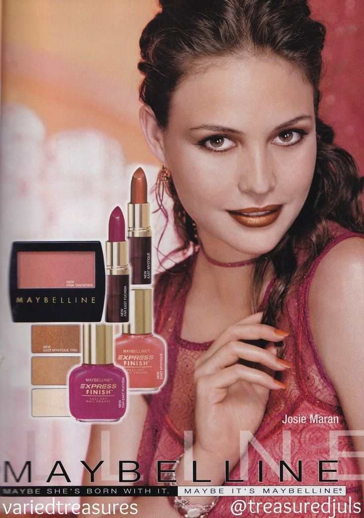 90's makeup ads | 90s #maybelline ad with #josiemaran ...