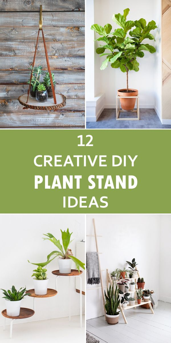12 Creative DIY Plant Stand Ideas | Diy plant stand, House ... on Hanging Plant Stand Ideas  id=41545