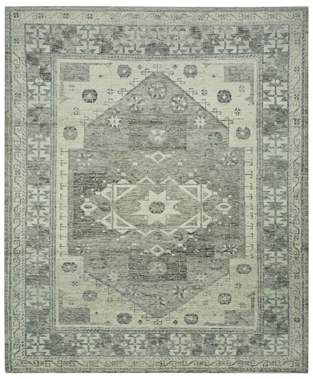 Southwestern and tribal influences are combined to create a timeless yet contemporary motif in the Bronte transitional rug. Embracing a geometric pattern and a marvelous color scheme, this handcrafted rug is made in Nepal from 100% wool and is sure to make an impact. http://www.cyrusrugs.com/cyrus-artisan-item-1074&category_id=272&pagenum=2&click=pge