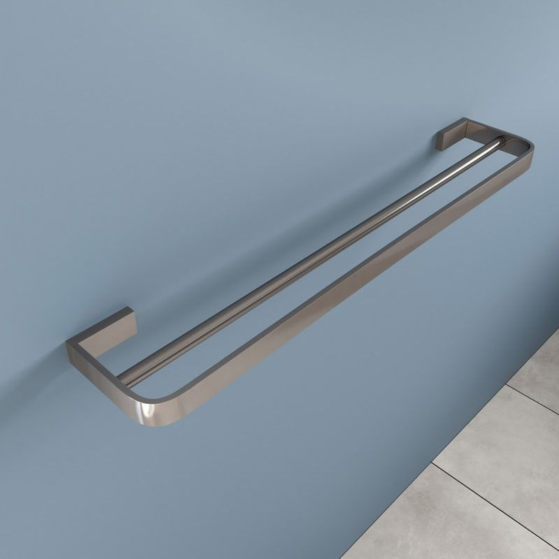 Best Mode Spencer Brushed Nickel Double Towel Rail 600Mm 400 x 300