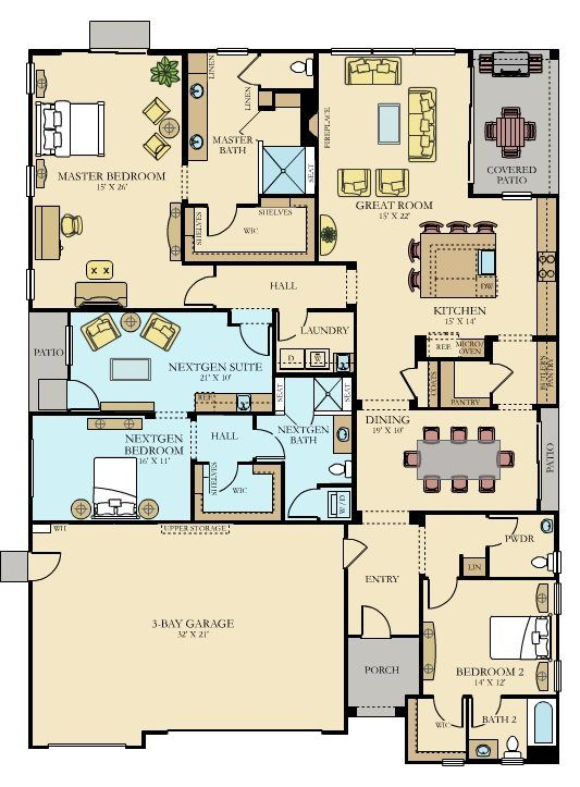 The Monticello Plan 2955 New Home Plan In Heritage El