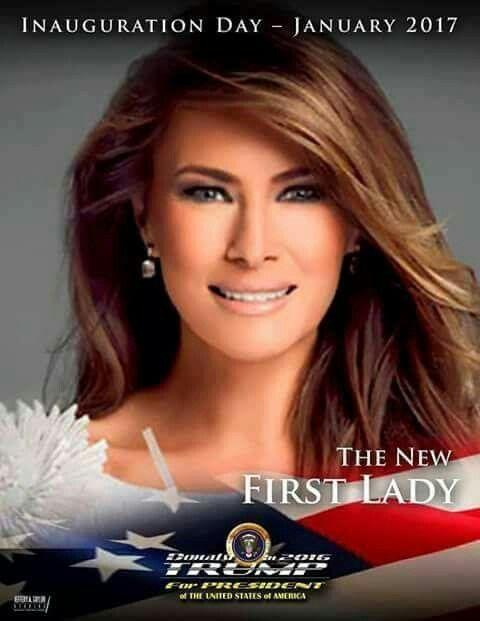 Melania Trump,  First Lady.  .2017