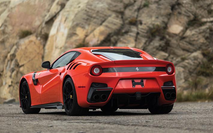 Preuzimanje Pozadine Ferrari F12 F12tdf Sportski Coupe Pogled Straga 2017