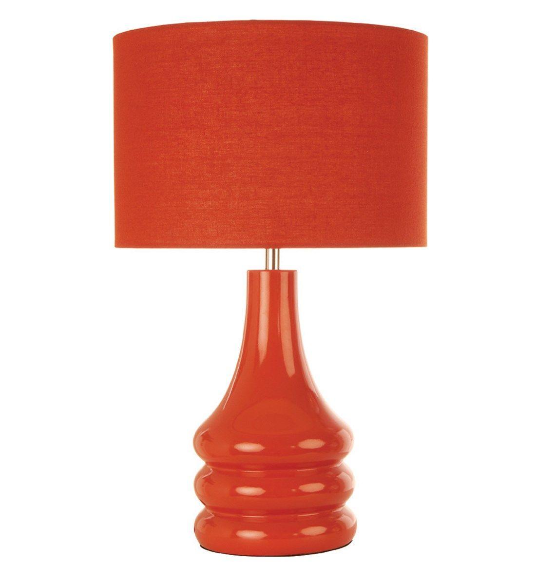 Raj Table Lamp Burnt Orange   Table