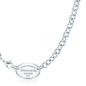 da9b6a9ec Oval Tag Necklace in 2019   Tiffany's <3   Jewelry, Tiffany necklace ...