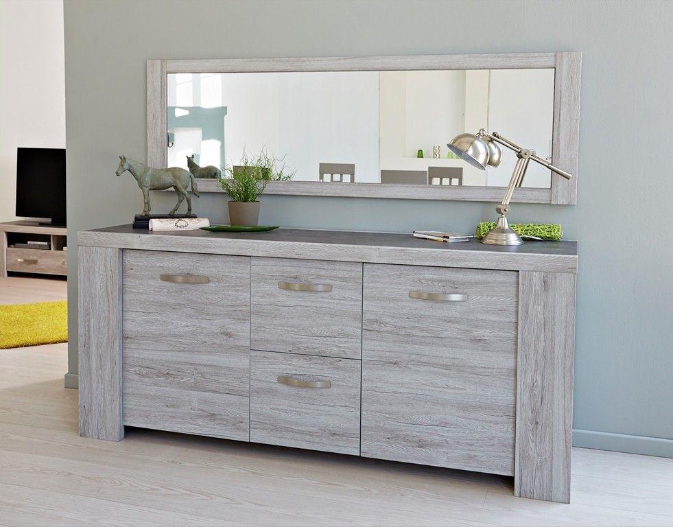 Miroir de la salle à manger Malori avec cadre en aggloméré