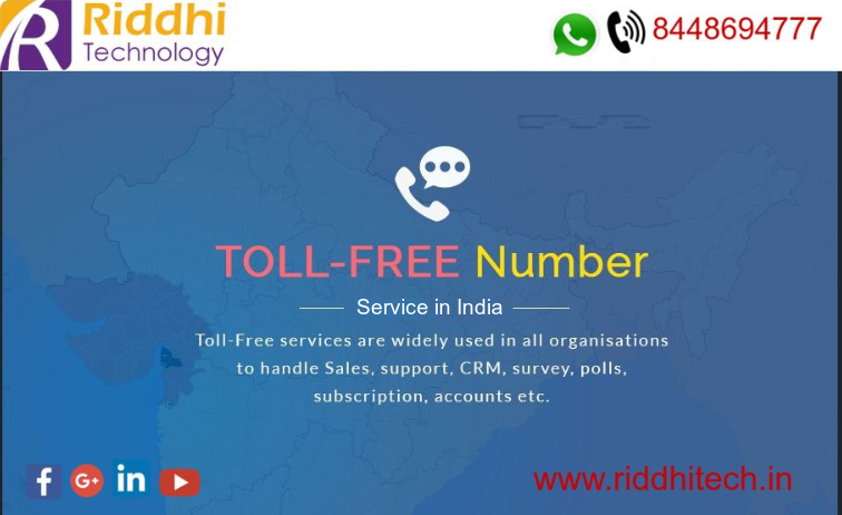 Toll Free number provides customers free call service