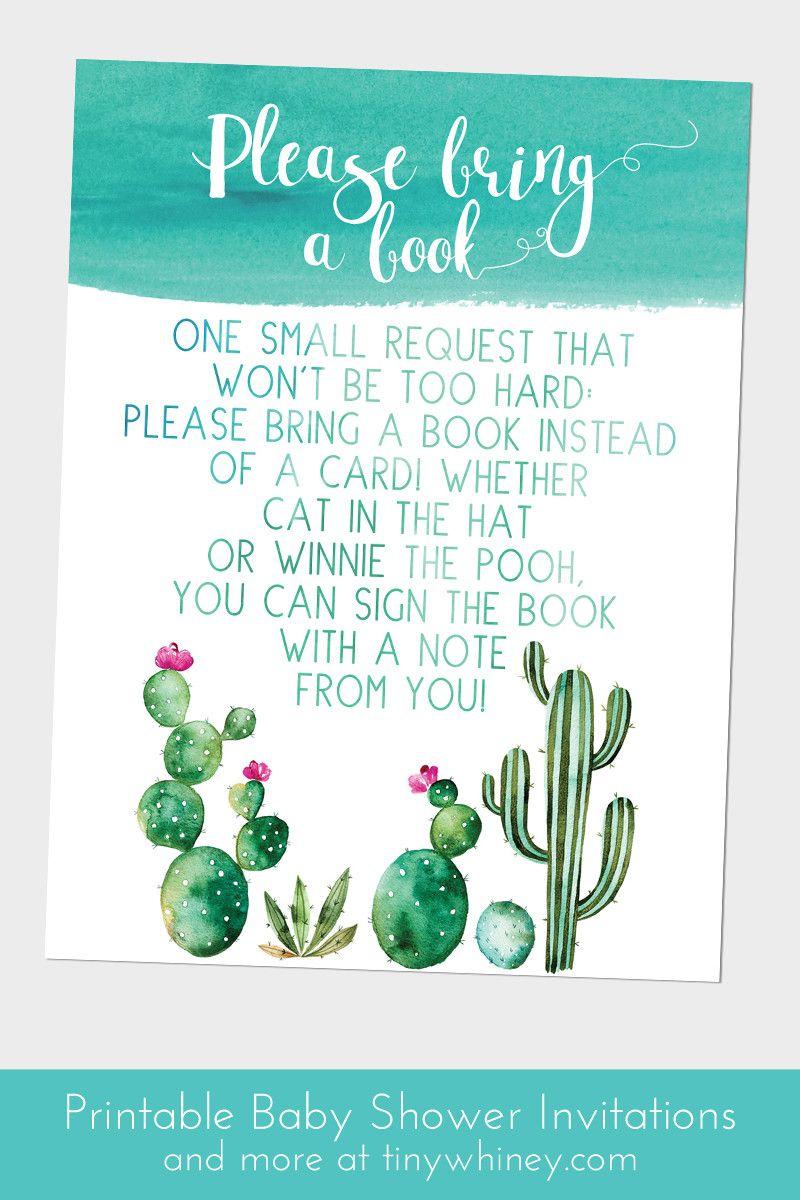 Cactus Baby Shower Invitations | Baby Shower Invitations | Pinterest ...