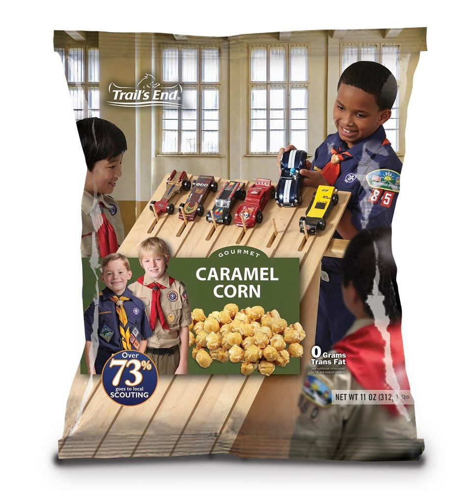 Clic Caramel Corn Popcorn Boy Scouts Cub Scout Gourmet Gifts Fundraiser Trailsend
