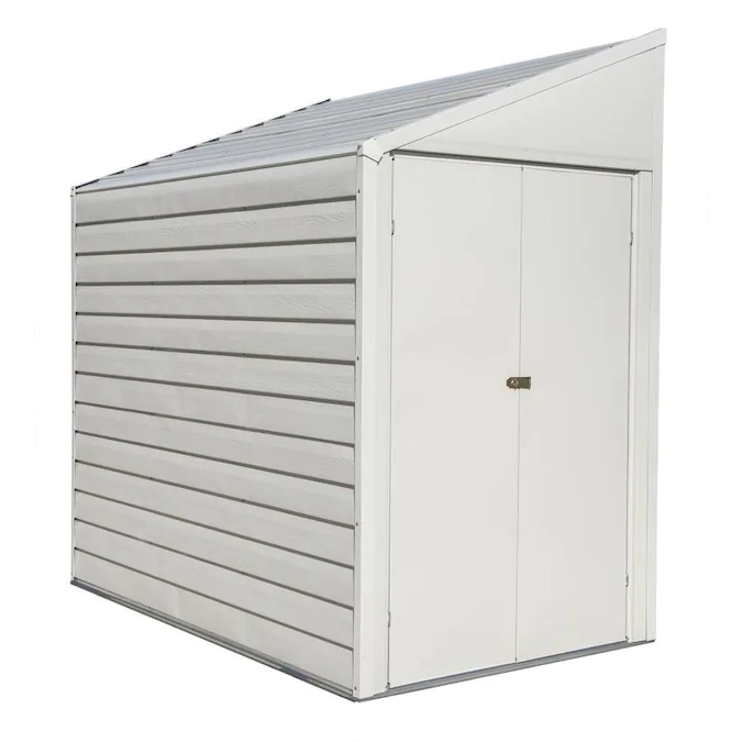 Arrow Common 4 Ft X 7 Ft Interior Dimensions 3 97 Ft X 6 45 Ft Yardaver Galvanized Steel Storage Shed Lowes Com In 2020 Steel Storage Sheds Metal Storage Sheds Storage Shed