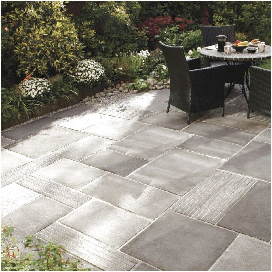 Merveilleux Captivating Outdoor Patio Stones And Pavers From Grey Stained Concrete  Floor Tiles Also A Set Of