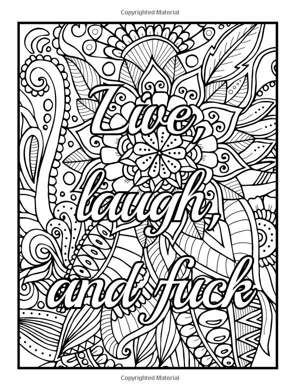 Amazon Be Fcking Awesome And Color An Adult Coloring Book With Motivational Swear Word Phrases Naughty Inspirational Quotes Relaxing Flower