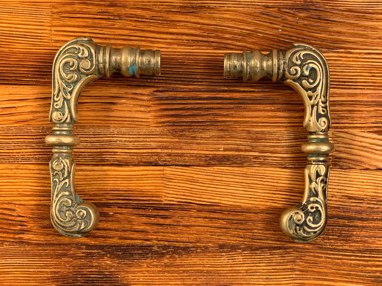 Antique Bronze Door Handle Vintage Brass Door Handle Doorknob 1920s In 2020 Door Handles Bronze Door Handle Brass Door