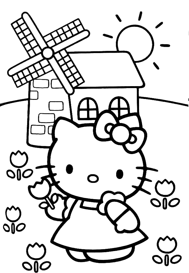 hello kitty pictures to colour cakepinscom - Picture To Colour In