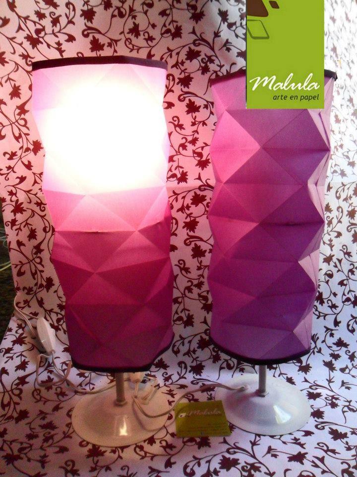 Lámpara en origami, diseñado por malula _ arte en papel