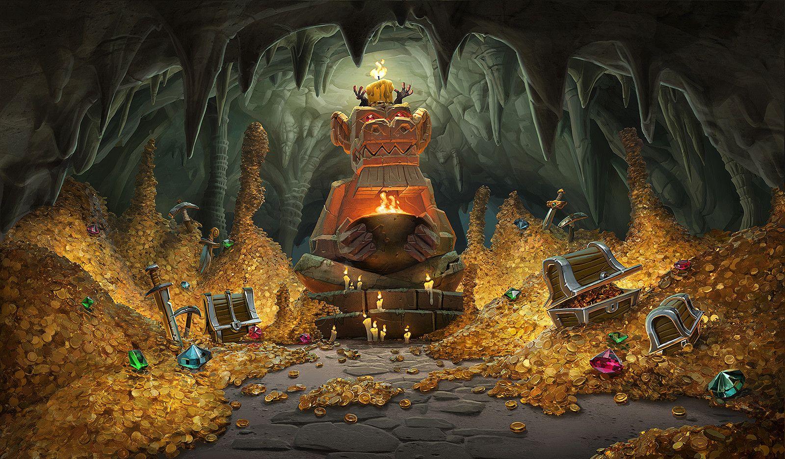 картинки пещеры с золотом драконе было