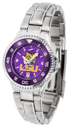 Louisiana State (LSU) Tigers Competitor AnoChrome Ladies Watch with Steel Band and Colored Bezel by SunTime. $91.67. Showcase the hottest design in watches today! The functional rotating bezel is color-coordinated to compliment the Louisiana State (LSU) Tigers logo. The Competitor Steel utilizes an attractive and secure stainless steel band.The AnoChrome dial option increases the visual impact of any watch with a stunning radial reflection similar to that of t...