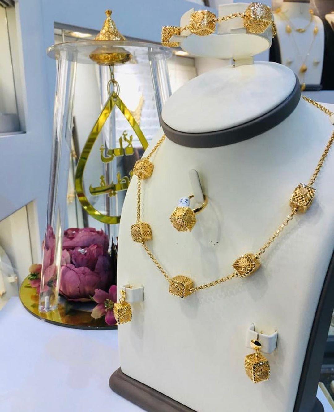 Lalae Alqatif Jewellery طقم تركي ذهب عيار ٢١ من مجوهرات لآلئ القطيف للطلب والاستفسار عن الاسعار التواصل مع المحل Jewellry