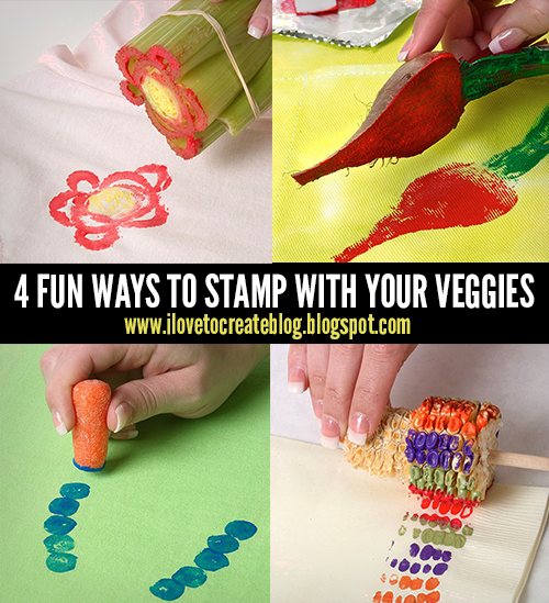 iLoveToCreate Blog: 4 Fun Ways to Stamp with your Veggies