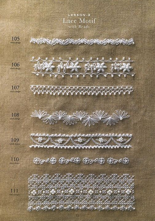 Bead Embroidery Samplers 130 – Japanese Craft Book, Yasuko Endo, Gorgeous Beading Hand Embroidery Design, Easy Embroidery Tutorial – B920