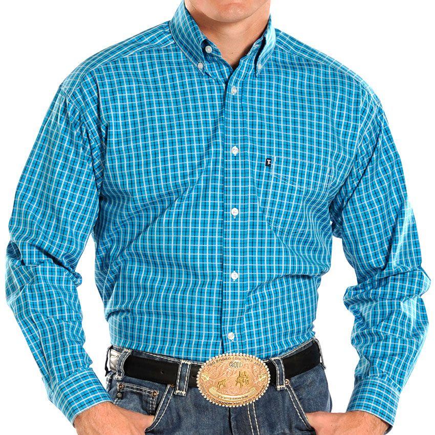 Panhandle Slim Men's Plaid Long Sleeve Western Shirt #PWW #tufcooper