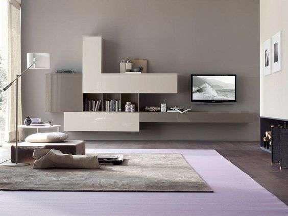 Arredare il soggiorno con il color tortora - Colore pareti soggiorno ...