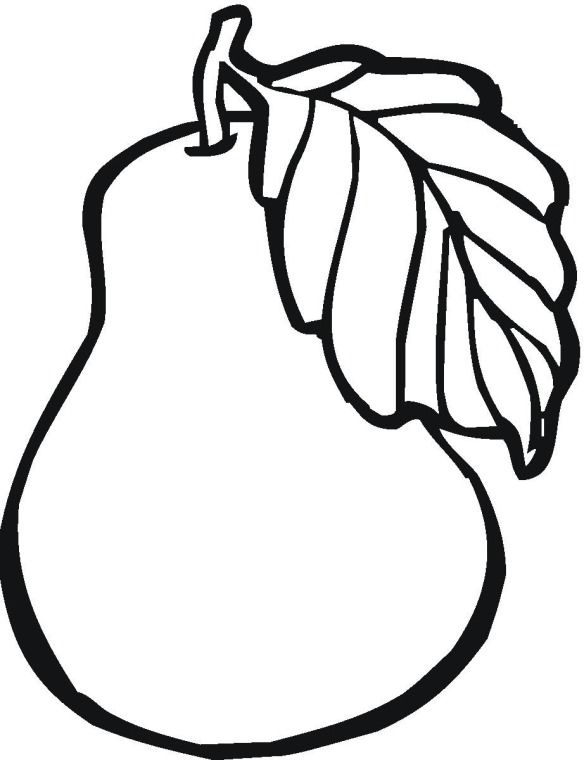Fruit pear coloring page | Quiltables | Fruit coloring ...