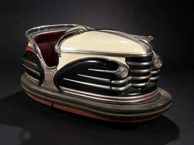 Vintage French Fairground Art  Bumper Car  La collection d'art forain de Fabienne et François Marchal