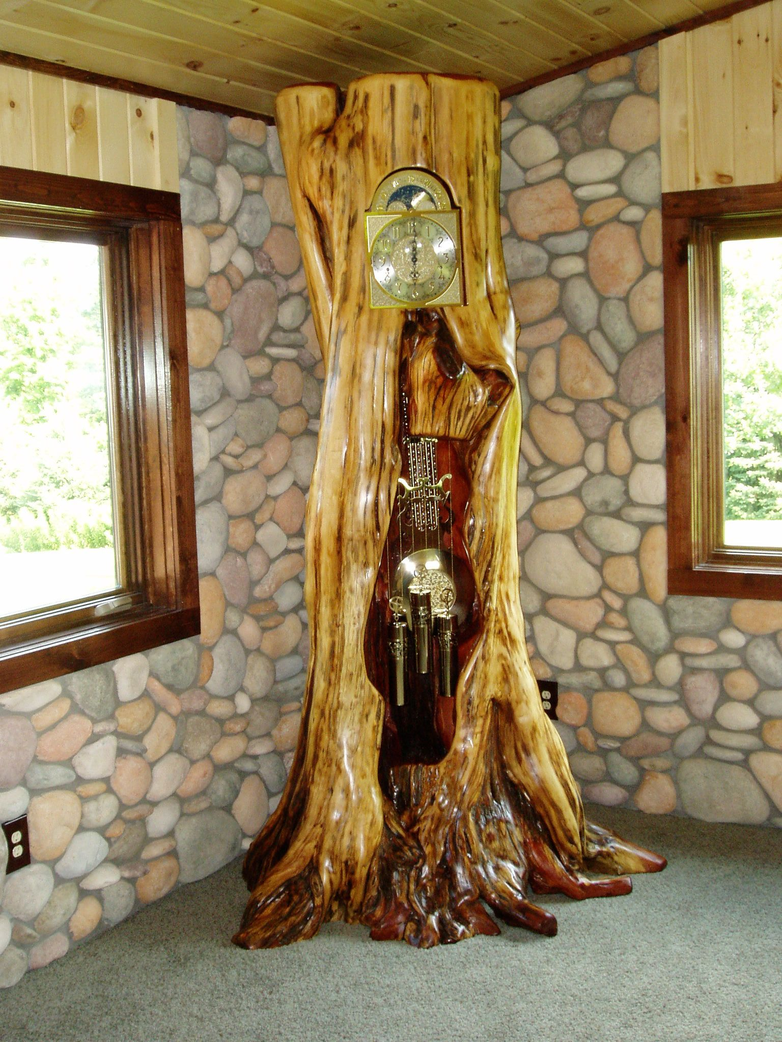 grandfather clock with images rustic log furniture on extraordinary creative wooden furniture design id=22384