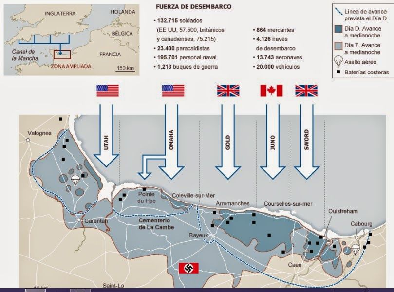 Desembarco De Normandia Normandia Soldados Historia Del Mundo