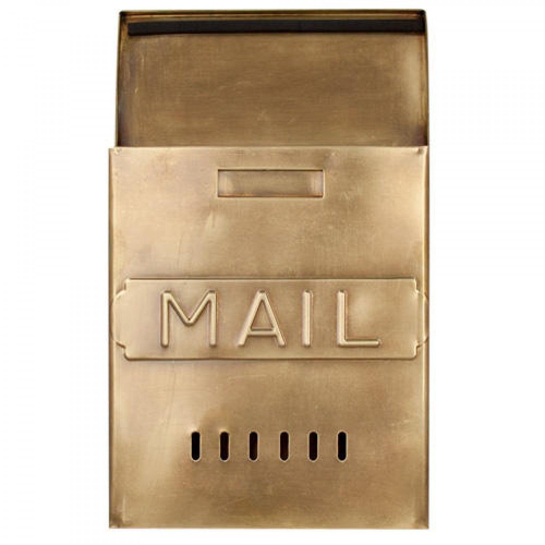 Vertical Mail Wall Mount Brass Mailbox Antique Brass Patio Wall Decor Wall Mount Mailbox Garden Wall Decor