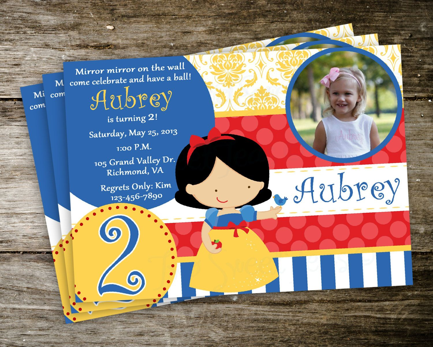 the 25+ best ideas about snow white invitations on pinterest, Birthday invitations