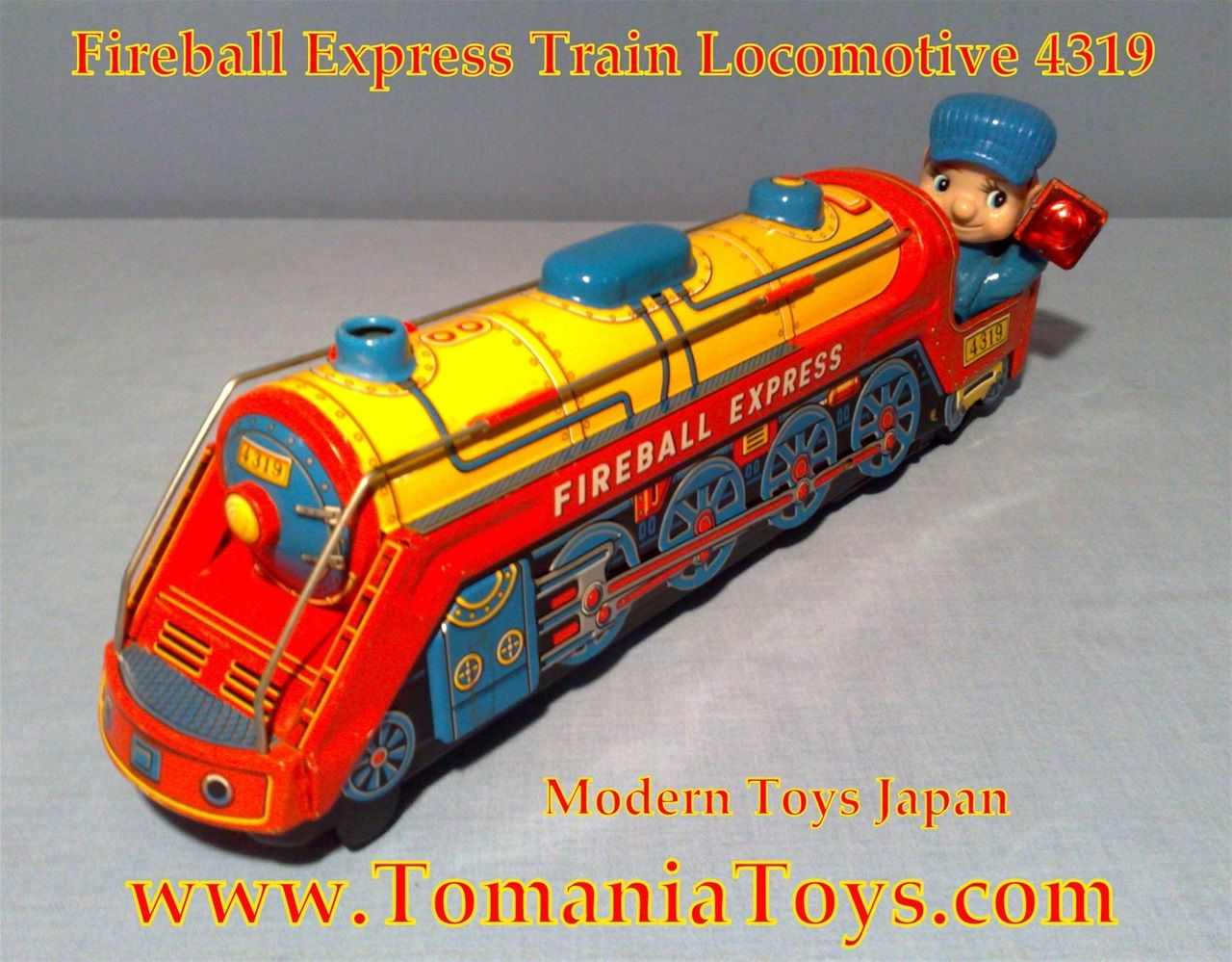 Vintage Japan Tin Toys : Vintage fireball express locomotive modern toys