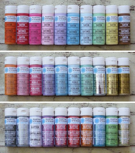 Martha Stewart Craft Paint: Good For All Crafting Surfaces   Glass To  Fabric, Indoor