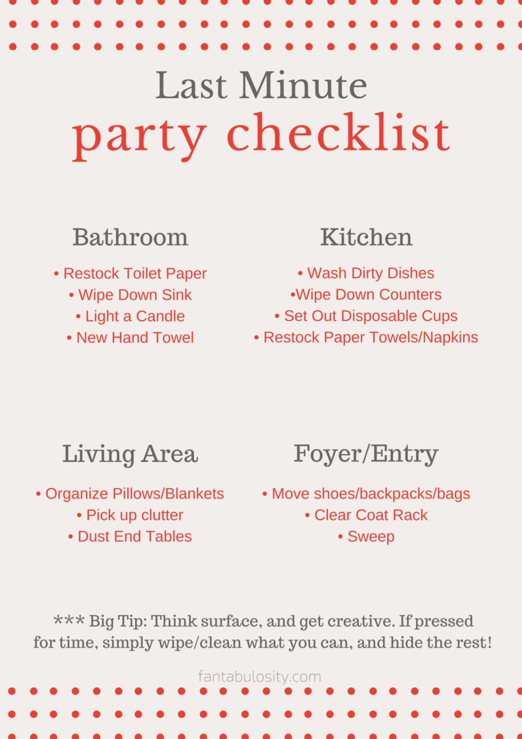 Photo of Last Minute Party Checkliste – kostenloser Download