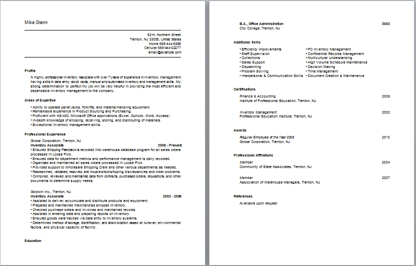 Cvs And Covering Letters Resume Skills Professional Resume Examples Basic Resume