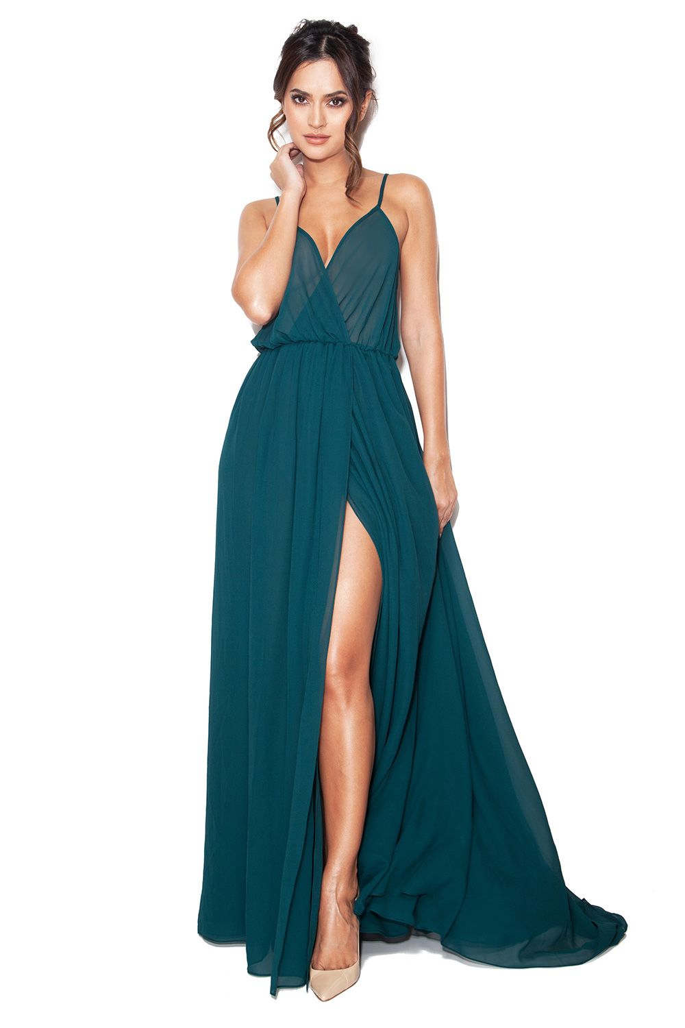 green-chiffon-maxi-dress | Chiffon Maxi Dress | Pinterest | Sheer ...