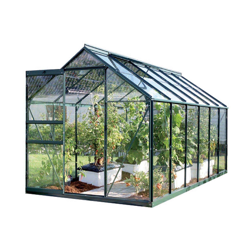 Serre De Jardin En Verre Trempe 3 Mm Lams Allium Venus 5000 Vert 5 M Lams Serre Jardin Verre Trempe Et Serre