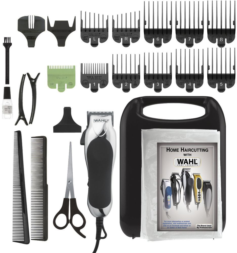 Haircut 24pc Pro Kit Men Wahl Clipper Trimmer Shavers Hair Remover Barber Salon