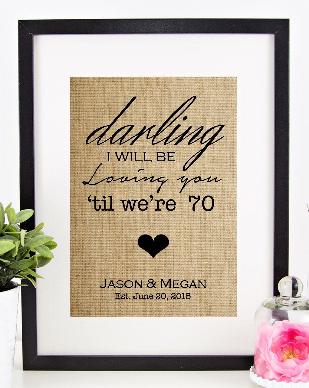 Thinking Out Loud Lyrics Burlap Print | Ed Sheeran Lyrics | Personalized Wedding Gift for Couple | Reception Sign | Wedding Song Lyrics by chathamplace on Etsy https://www.etsy.com/listing/235492346/thinking-out-loud-lyrics-burlap-print-ed