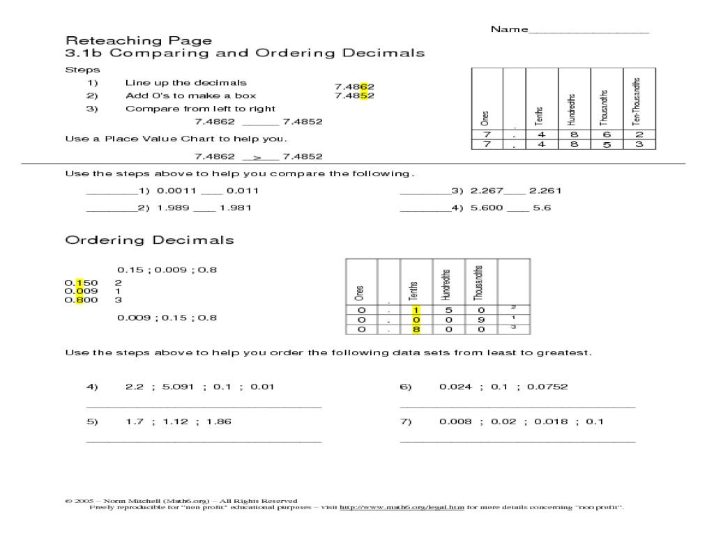 Place Value Worksheets Grade 5 In 2020 Decimals Worksheets Free Math Worksheets Multiplying Decimals