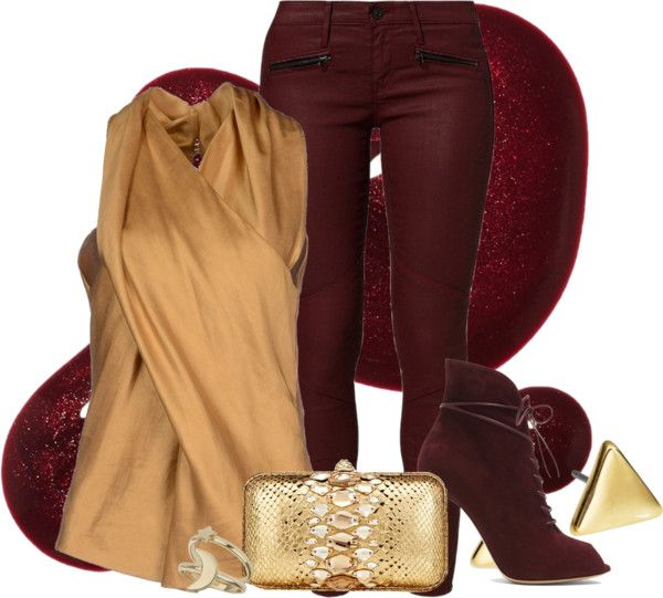 """""""Griffindor High/Low Outfit"""" by aisling-loulou on Polyvore"""