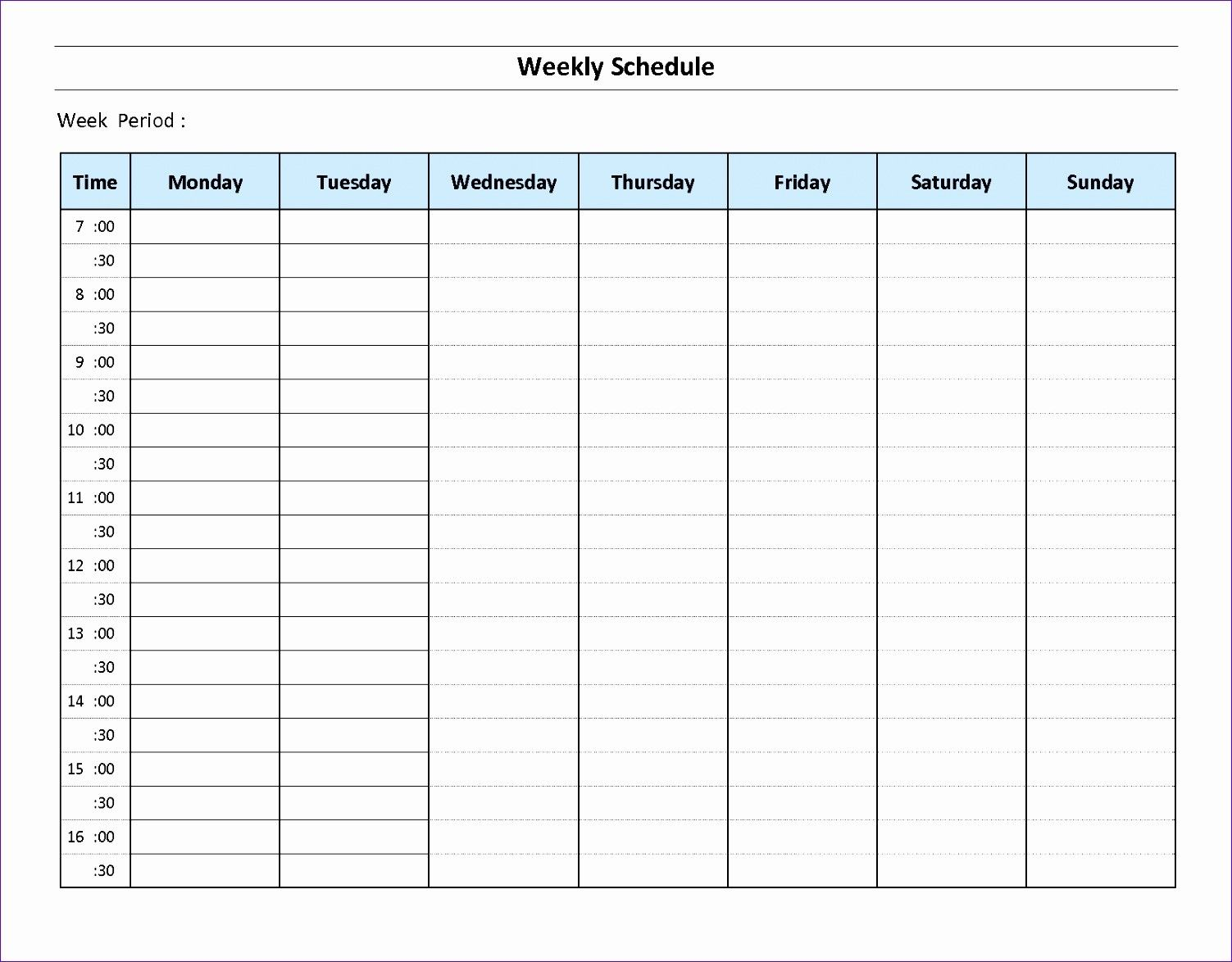 Weekly Schedule Maker Template Ten Things About Weekly