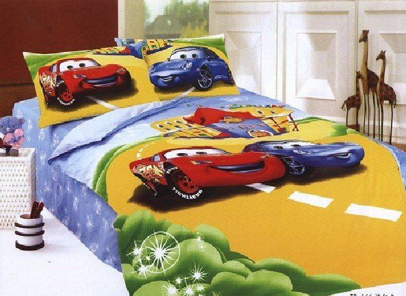 wholesale cars bedding 3set/lot 3pcs/sets cartoon Printed Bed Bedding set Gift Mix Order Drop Shipping 20110424 12-in Bedding Sets from Home & Garden on Aliexpress.com | Alibaba Group