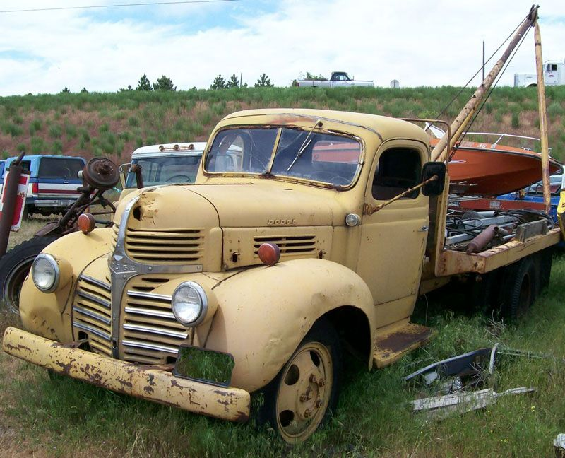 old trucks for sale | 1940 Dodge Model WF21 one ton flatbed boom ...
