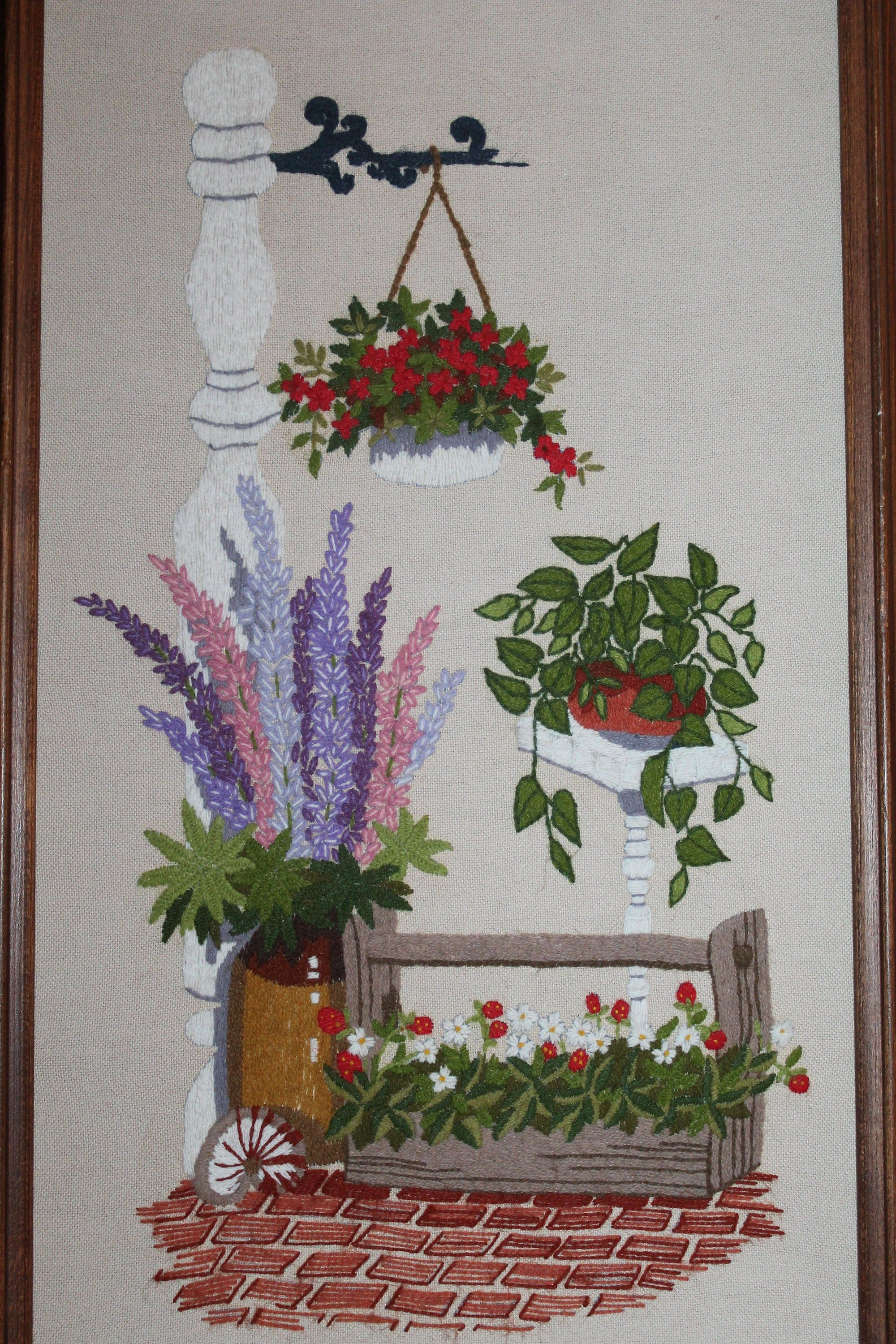 Vintage Hand Embroidered Picture Embroidered Crewel Wall Art Etsy Embroidered Wall Art Etsy Wall Art Hand Embroidered