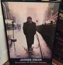 vintage james dean boulevard of broken dreams poster print painted