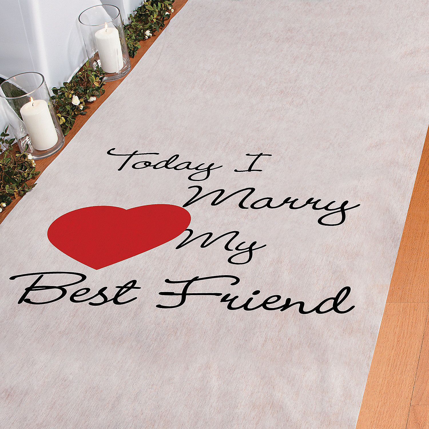 Today I Marry My Best Friend Aisle Runner Wedding Weddings And